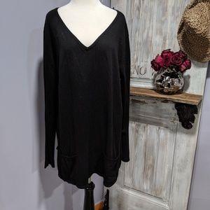 New York & Co. black pocket front tunic